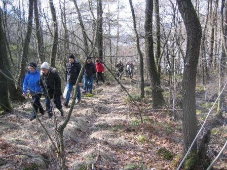 På tilbakeveien fra Dåreidstranda valgte endel å gå gamleveien opp til Dåreid igjen.