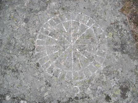 32 streks kompass rose ved vakthytta