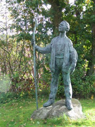 Vandringsmann, som er montert opp i seinere tid i Buvika.